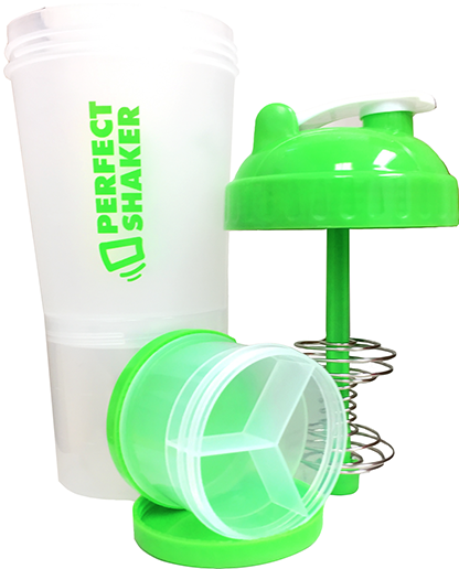 PerfectShaker Plus, 700ml, Gecko Green